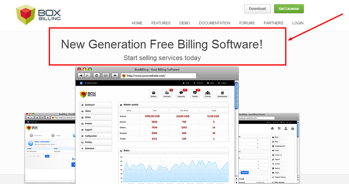 BoxBilling is a free billing  invoicing and client management software