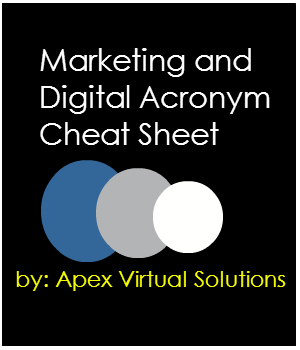 Handy Marketing Acronym Cheat Sheet
