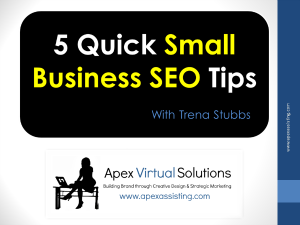 Video: 5 Quick Small Business SEO Tips
