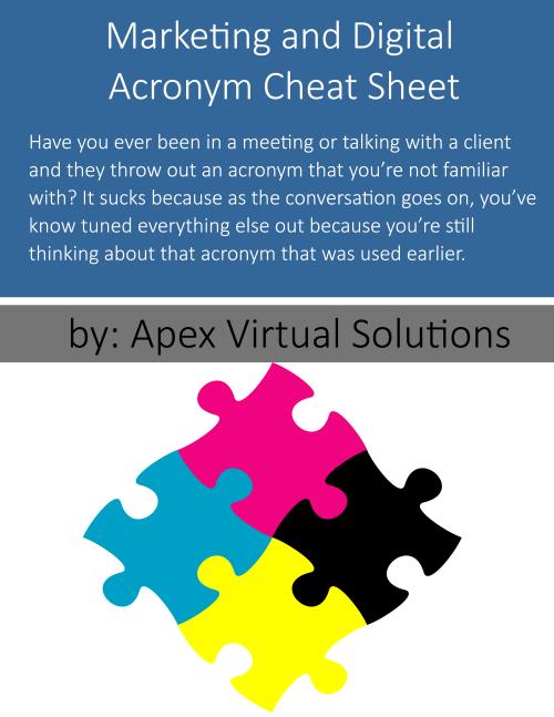 Handy Marketing Acronym Cheat Sheet | Apex Virtual Solutions