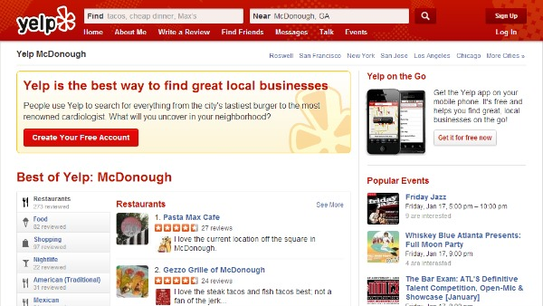 Yelp for Service Businesses