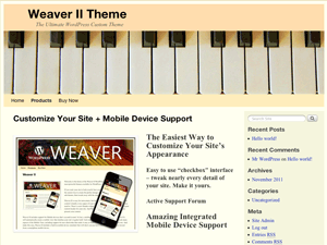 Weaver Theme Tutorial